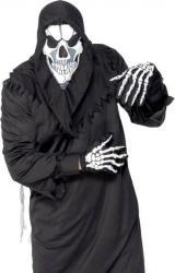 Set skull avec cagoule et gants imprimés pas cher
