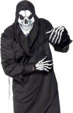 Set skull avec cagoule et gants imprimés