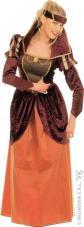 deguisement reine medievale en velours