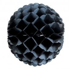 boule papier alveolee noir