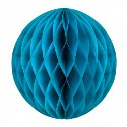 Boule papier alvéolée bleu glacier pas cher