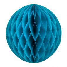 boule papier alveolee bleu glacier