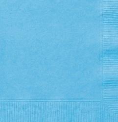 Serviettes en papier de couleur bleu pastel