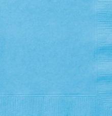 serviettes en papier bleu pastel