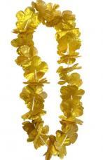 Collier hawaïen tissu Or