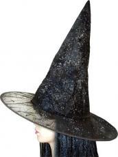 chapeau sorcière toile paillettes