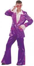 deguisement disco violet pour homme