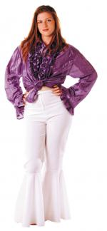 Déguisements Pantalon Disco Femme Blanc