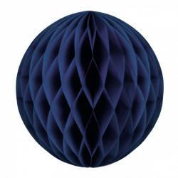 Boule papier alvéolée bleu marine pas cher