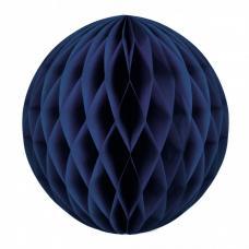 boule papier alveolee bleu marine