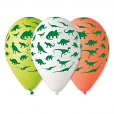 ballons motif dinosaure