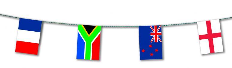 guirlande pays participants coupe du monde rugby 2019