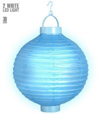 lampion lumineux bleu led