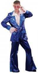Déguisement Disco bleu pour homme pas cher