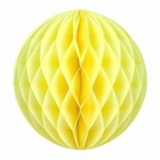boule papier alveolee jaune