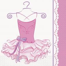 16 serviettes danseuse ballerine