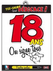 t-shirt special dedicace 18 ans