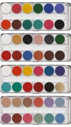 Maquillage aquacolor Kryolan : palette aquacolor