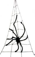 Déguisements Toile d'araignée géante avec araignées