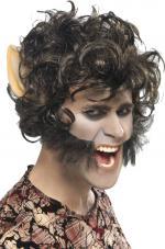 Déguisements Perruque Homme Loup avec grandes oreilles et pattes
