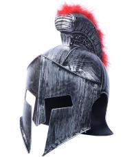 casque chef militaire romain crete rouge