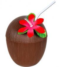 gobelet noix de coco avec paille