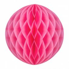 boule papier alveolee neon rose