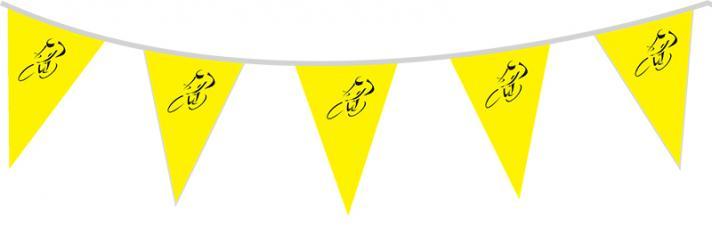 guirlande cycliste fanions jaune