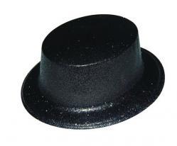 Chapeau haut de forme Noir pailleté pas cher