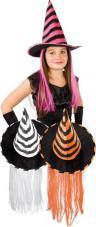 chapeau sorcière enfant avec cheveux couleurs