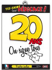 t-shirt special dedicace 20 ans