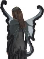 Ailes de papillon Noir géantes