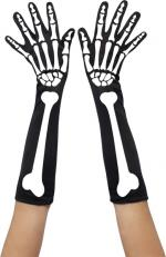 Déguisements Gants Squelette Longs
