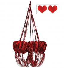 suspension chandeliers rouge saint valentin