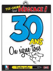t-shirt special dedicace 30 ans