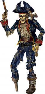 Déguisements Décoration Squelette Pirate Carton