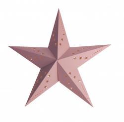 Lanterne étoile rose pastel pas cher