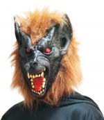 Masque Loup Garou adulte avec yeux rouges