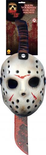 Déguisements Kit licence Jason avec masque et machette