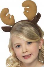 Déguisements Serre-tête renne marron enfant