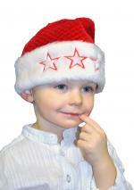 Déguisements Bonnet de Noel avec étoiles en peluche