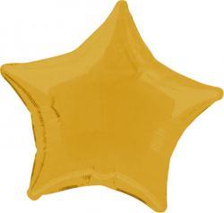 Ballon métal aluminium forme étoile Or