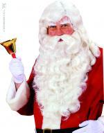 Perruque Père Noël luxe avec moustaches barbe et cache sourcils