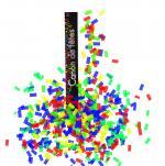 Déguisements Canon à confettis papiers rectangles multicolores