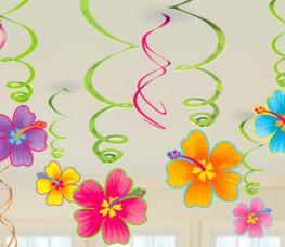 guirlandes virvatelles fleurs hawaiennes