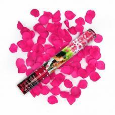 canon a confettis petales de rose couleur rose
