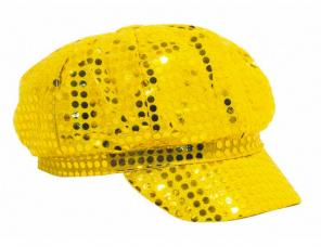 casquette disco or a paillettes