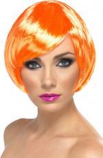 Perruque courte orange pour femme