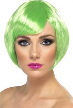 Perruque courte verte pour femme
