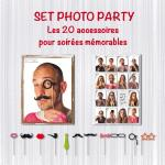 Déguisements Coffret Photo Booth Luxe
